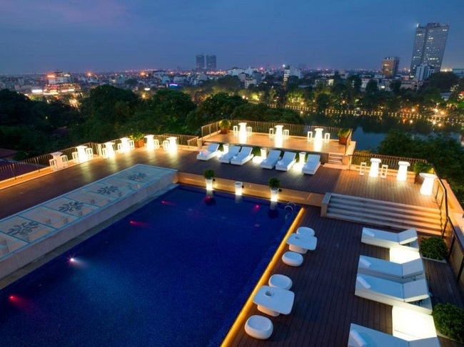 best hotels with pool in Hanoi Old Quarter 23