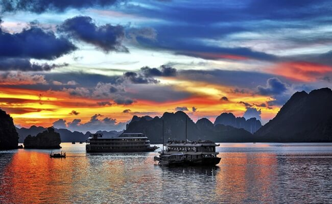 sunset in vietnam 1